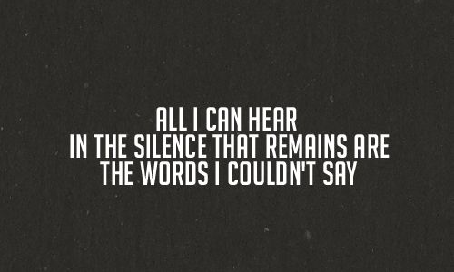 silence vs words